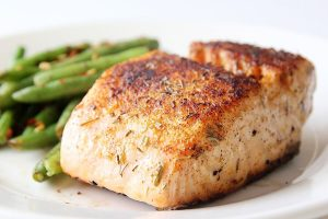 salmon-horneado